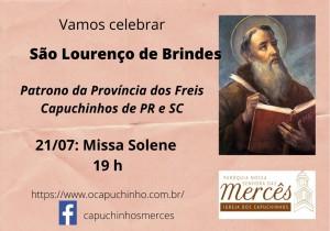 MISSA SOLENE DE SÃO LOURENÇO DE BRINDES